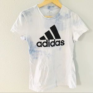 Adidas The Go To Tee Tie Dyed Fitted Tee Shirt M